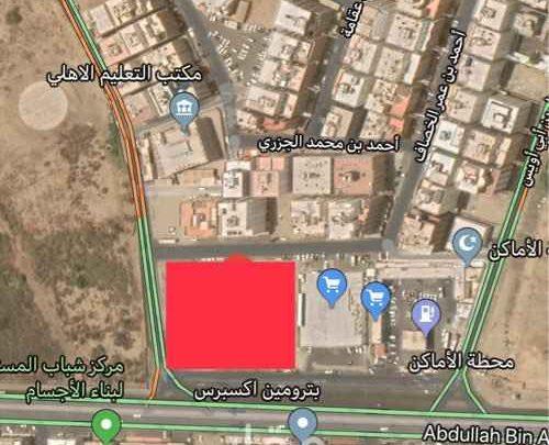 A land for rent in Jeddah, Al Samer district, Abdullah bin Ata Street